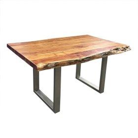"Freeform 60"" Dining Table - Metal Legs"