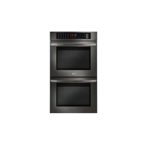 LG AppliancesLG Black Stainless Steel Series 9.4 cu. ft Total Capacity Double Wall Oven