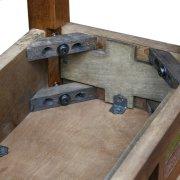 Rustic Oak Slate Hall Stand #10059 Product Image