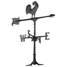 """30"""" Rooster Accent Weathervane - Black"""