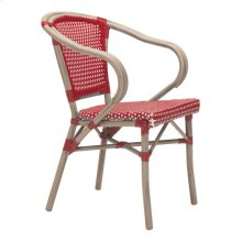 Paris Dining Arm Chair Red&white