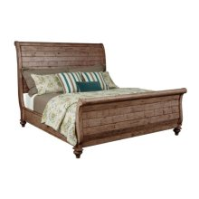 Lynton Sleigh Cal. King Bed - Complete