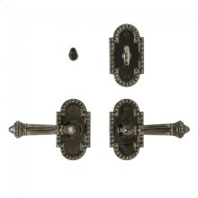"""Corbel Arched Privacy Set - 2 1/2"""" x 4 1/2"""" Silicon Bronze Brushed"""