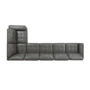Ellington Transitional Grey Armless Chair
