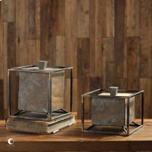 Slate Cube Boxes, S/2