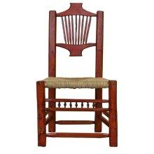 Red Resplandor Chair W/Wicker Seat