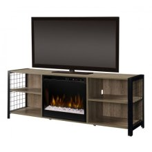 Asher Media Console Electric Fireplace