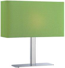 Table Lamp, Chrome/green Fabric Shade, E12 Type G 40w