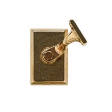 Rectangular Handrail Bracket Silicon Bronze Brushed