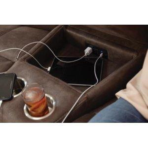 Power Headrest w/Lumbar LSF Recliner w/Extended Ottoman