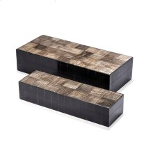 Asher Carved Boxes - Black