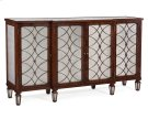 Regency Grillwork Cabinet in Rosewood Finish Product Image