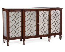 Regency Grillwork Cabinet in Rosewood Finish
