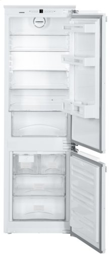 """24"""" Integrated fridge-freezer combination with BioCool and NoFrost"""