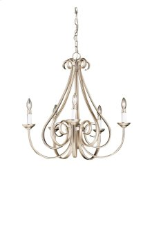 Dover 5 Light Chandelier Brushed Nickel