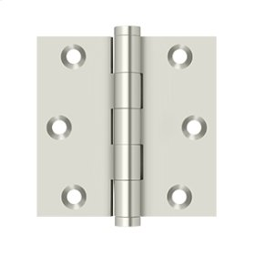 "3""x 3"" Square Hinge - Polished Nickel"
