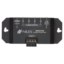 IR Repeater Main System Unit for Single Zone; One Input, Four Flasher Out MSU140