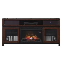 Gramercy TV Stand with Electric Fireplace and sound