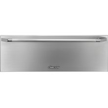 """Heritage 27"""" Epicure Warming Drawer, Silver Stainless Steel"""