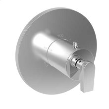 """Forever Brass - PVD 3/4"""" Round Thermostatic Trim Plate with Handle"""