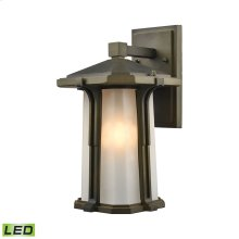 Brighton 1-Light Outdoor Wall Lamp in Smoked Bronze - Includes LED Bulb
