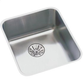 "Elkay Lustertone Classic Stainless Steel, 16-1/2"" x 16-1/2"" x 5-3/8"", Single Bowl Undermount ADA Sink w/Perfect Drain"