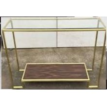 Modern Brushed Brass Console Table