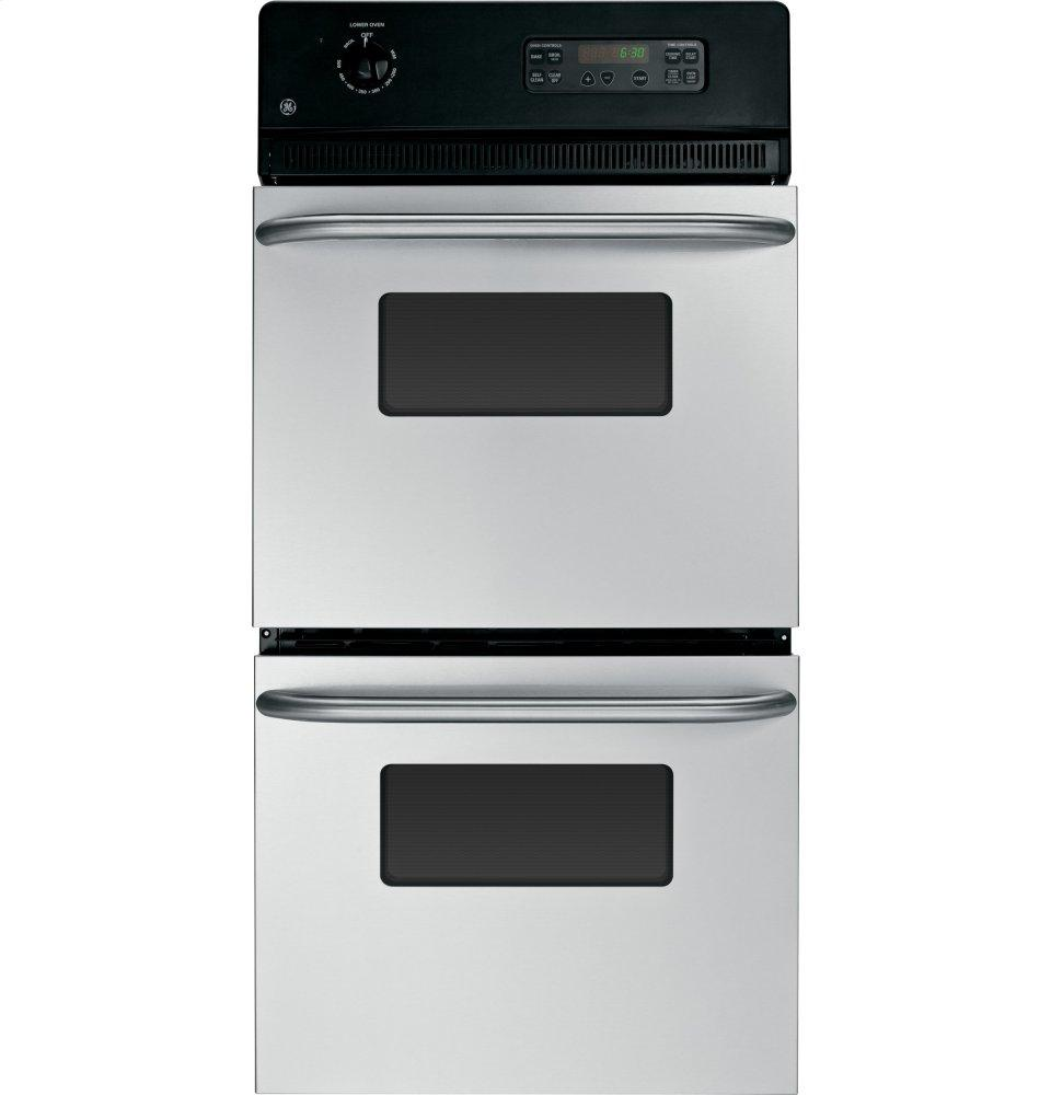 """GE(R) 24"""" Double Wall Oven  STAINLESS STEEL"""