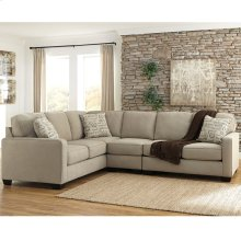 Signature Design by Ashley Alenya 3-Piece Left Side Facing Sofa Sectional in Quartz Microfiber [FSD-1669SEC-3LAFS-QTZ-GG]