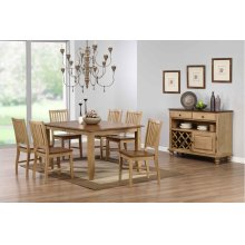 DLU-BR4272-C60-SRPW8PC  8 Piece Extendable Table Dining Set with Server