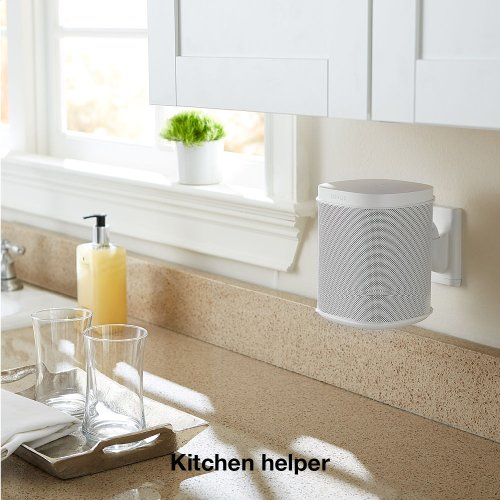 White- Versatile, space-saving solution for your Sonos compact speakers.