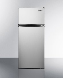 Mid-size Ada Compliant Refrigerator-freezer In Stainless Steel With Frost-free Operation