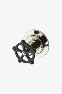 Regulator Two Way Thermostatic Diverter Valve Trim with Black Wheel Handle STYLE: RG2T01