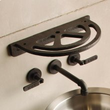 Industrial Accessories Cast Iron / Shelf With Glass