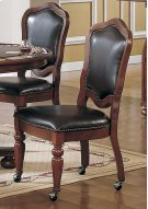 Faran Cordovan Vnly Caster 2pk Chair 2pk Product Image