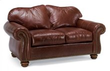 Bexley Leather Loveseat with Nailhead Trim
