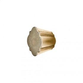 Quatrafoil Cabinet Knob - CK10010 White Bronze Medium