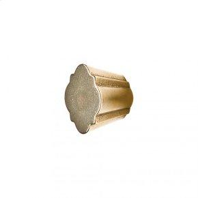 Quatrafoil Cabinet Knob - CK10010 White Bronze Brushed