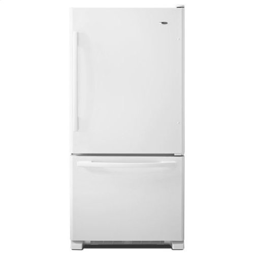 22 cu. ft. Bottom-Freezer Refrigerator with Large Capacity - white