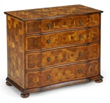 Oyster Veneer Large Chest of Drawers