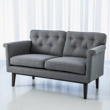Emerywood Loveseat-Wool Flannel-Ash