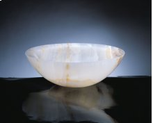 Polished Beveled Rim Sink White Onyx