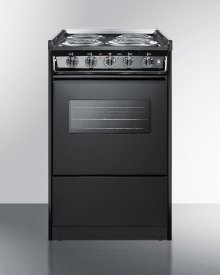 """20"""" Wide Slide-in Electric Range In Black With Oven Window, Light, and Lower Storage Compartment; Replaces Tem115rw"""