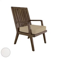 Teak Arm Chair Cushion in White