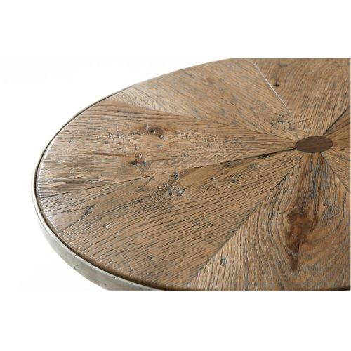 Sunburst Cantilever Accent Table, Echo Oak