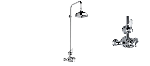 """Chrome Fairfield Exposed 3/4"""" Thermostatic Shower Set"""