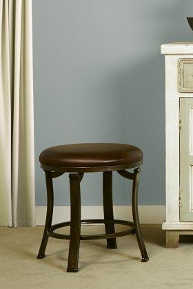 Hastings Backless Vanity Stool - Antique Bronze