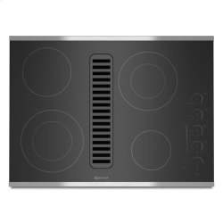 "Jenn-Air® Electric Radiant Downdraft Cooktop with Electronic Touch Control, 30"" - Stainless Steel"