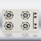 """30"""" wide cooktop in bisque, with four burners and pilot light ignition Product Image"""