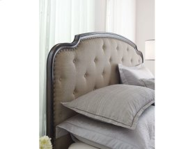 Upholstered Cal King Panel Bed Complete